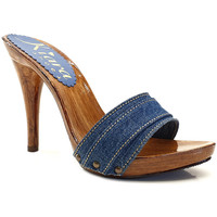 Scarpe Donna Ciabatte Kiara Shoes KM7101 Denim