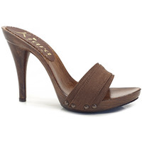Scarpe Donna Ciabatte Kiara Shoes KM7201 Marrone