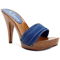 Scarpe Donna Ciabatte Kiara Shoes K21101 Denim