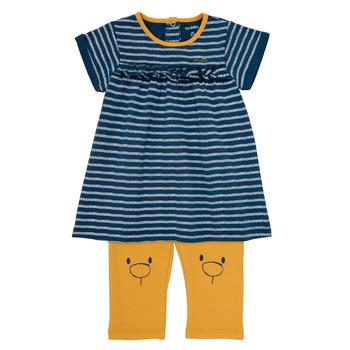 Abbigliamento Bambina Abiti corti Noukie's AYOUB Blu / Giallo