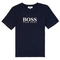 Abbigliamento Bambino T-shirt maniche corte BOSS ELIO Blu