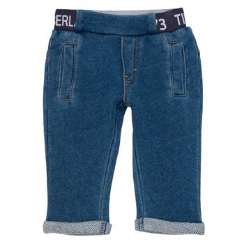 Abbigliamento Bambino Pantaloni 5 tasche Timberland VALENTIN Blu