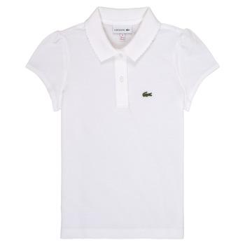 Abbigliamento Bambina Polo maniche corte Lacoste CAYDEN Bianco