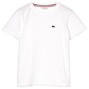 Abbigliamento Bambino T-shirt maniche corte Lacoste APAULINE Bianco