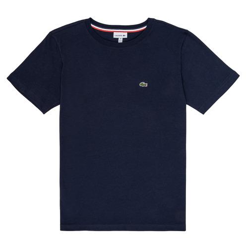 Abbigliamento Bambino T-shirt maniche corte Lacoste JUSTYNE Marine