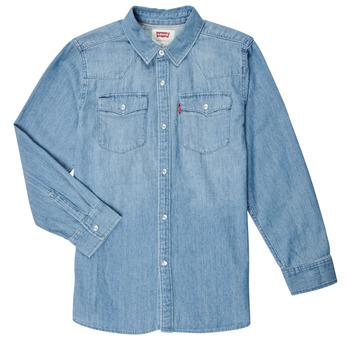 Abbigliamento Bambino Camicie maniche lunghe Levi's BARSTOW WESTERN SHIRT Blu