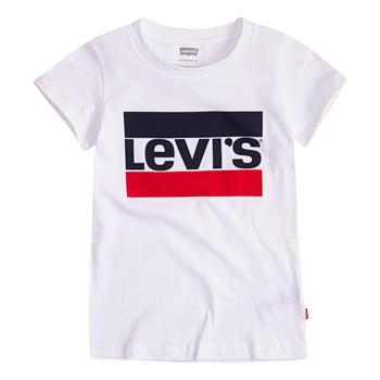 Abbigliamento Bambina T-shirt maniche corte Levi's SPORTSWEAR LOGO TEE Bianco