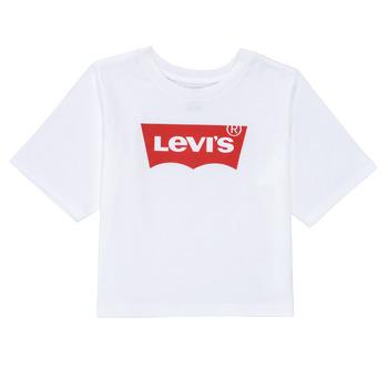 Abbigliamento Bambina T-shirt maniche corte Levi's LIGHT BRIGHT HIGH RISE TOP Bianco