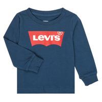 Abbigliamento Bambino T-shirts a maniche lunghe Levi's BATWING TEE LS Marine