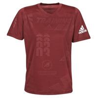 Abbigliamento Uomo T-shirt maniche corte adidas Performance DAILY PRESS TEE Rosso