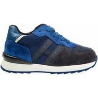 Scarpe Unisex bambino Sneakers basse Hogan HXT4840CF90IDU748V Sneakers Bambino Blu/azzurro Blu/azzurro