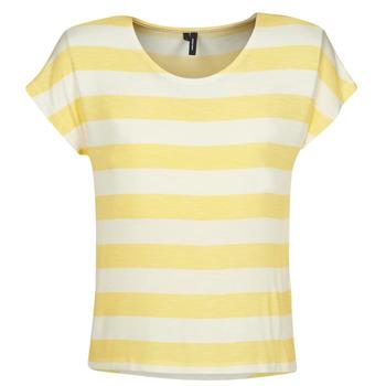 Abbigliamento Donna T-shirt maniche corte Vero Moda  Giallo / Bianco