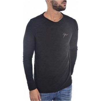 Abbigliamento Uomo T-shirts a maniche lunghe Goldenim Paris maniche lunghe 1137 nero