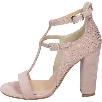 Scarpe Donna Sandali Olga Rubini sandali camoscio sintetico borchie Rosa