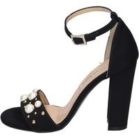 Scarpe Donna Sandali Olga Rubini sandali camoscio sintetico borchie Nero