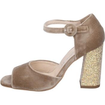 Scarpe Donna Sandali Olga Rubini sandali velluto beige