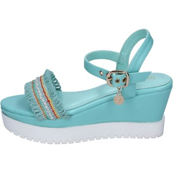 Scarpe Donna Sandali Enrico Coveri sandali pelle sintetica tessuto celeste