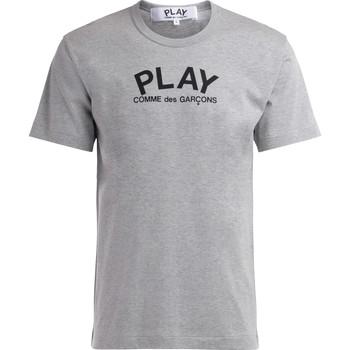 Abbigliamento Uomo T-shirt maniche corte Comme Des Garcons T-Shirt  in cotone grigio con logo Grigio