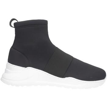 Scarpe Uomo Sneakers alte Made In Italia 109 LICRA Sneakers Uomo Nero Nero