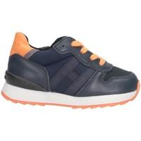 Scarpe Unisex bambino Sneakers basse Hogan HXT4840CF90MB9748S Sneakers Bambino Blu/arancione Blu/arancione