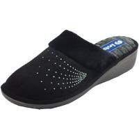 Scarpe Donna Pantofole Inblu DC000014 Nero Pantofole Donna tessuto nero brillantini Nero