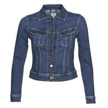 Abbigliamento Donna Giacche in jeans Lee SLIM RIDER JACKET Blu / Marine