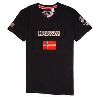 Abbigliamento Bambino T-shirt maniche corte Geographical Norway JIRI Nero