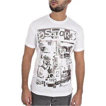 Abbigliamento Uomo T-shirt maniche corte Dsquared maniche corte S74GD0531 - Uomo bianco