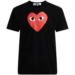 Abbigliamento Uomo T-shirt maniche corte Comme Des Garcons T-Shirt  da uomo nera con cuore rosso Nero