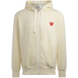 Abbigliamento Uomo Felpe Comme Des Garcons Felpa  da uomo color avorio con cuore Bianco