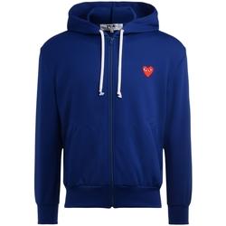 Abbigliamento Uomo Felpe Comme Des Garcons Felpa  da uomo blu con cuore rosso Blu