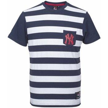 Abbigliamento Uomo T-shirt maniche corte Majestic T-Shirt Uomo Unspar Stripe Poc Blu