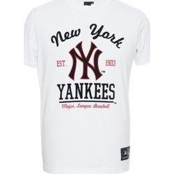 Abbigliamento Uomo T-shirt maniche corte Majestic T-shirt uomo Rouse Graphic NYY Bianco