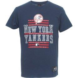 Abbigliamento Uomo T-shirt maniche corte Majestic T-shirt uomo Rouse Graphic NYY Blu
