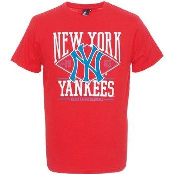 Abbigliamento Uomo T-shirt maniche corte Majestic T-shirt uomo Rouse Graphic NYY Rosso