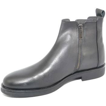 Scarpe Uomo Stivali Malu Shoes SCARPE UOMO BEATLES CHELSEA VERA PELLE NAPPA NERO SPAZZOLATO CO NERO