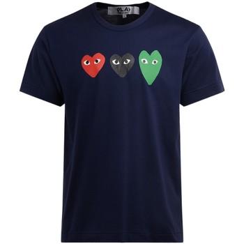Abbigliamento Uomo T-shirt maniche corte Comme Des Garcons T-Shirt  da uomo in cotone blu con Blu