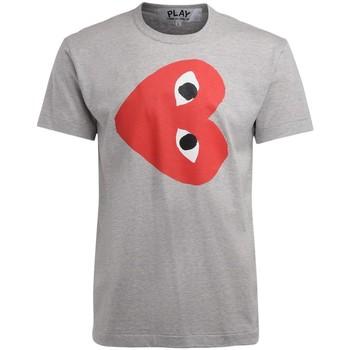 Abbigliamento Uomo T-shirt maniche corte Comme Des Garcons T-Shirt  da uomo grigia con cuore Grigio