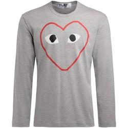 Abbigliamento Uomo T-shirts a maniche lunghe Comme Des Garcons T-Shirt  da uomo manica lunga grigia Grigio