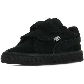 Scarpe Unisex bambino Sneakers basse Puma Suede 2 Straps Inf Nero