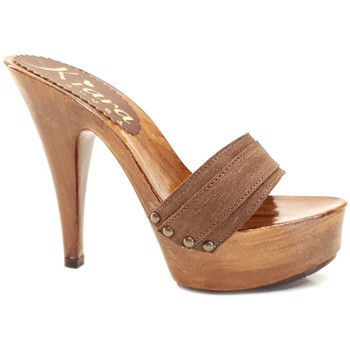 Scarpe Donna Ciabatte Kiara Shoes K9101 Marrone