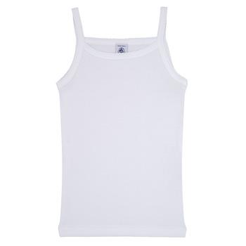 Abbigliamento Bambina Top / T-shirt senza maniche Petit Bateau 53295 Bianco