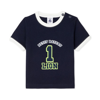 Abbigliamento Bambino T-shirt maniche corte Petit Bateau FUDGE Blu