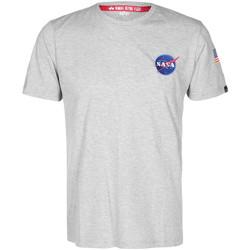 Abbigliamento T-shirt maniche corte Alpha NASA Space Shuttle Tee Grigio