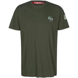 Abbigliamento T-shirt maniche corte Alpha NASA Space Shuttle Tee Verde