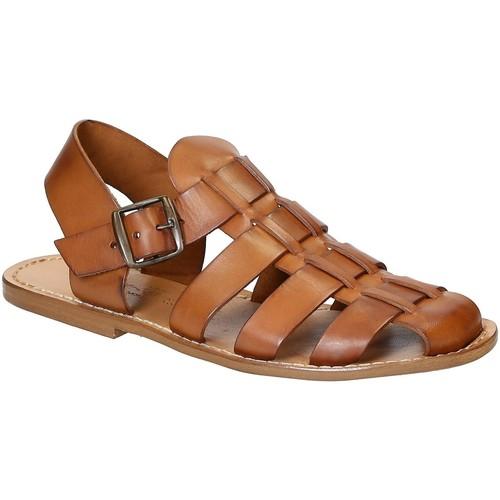Gianluca - L'artigiano Del Cuoio Sandali uomo in cuoio antico realizzati a mano in pelle di vacch Cuoio antico - Scarpe Sandali Uomo 79