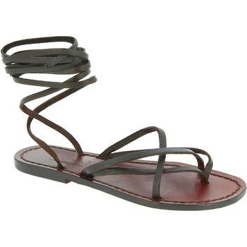 Scarpe Donna Sandali Gianluca - L'artigiano Del Cuoio Sandali in cuoio artigianali realizzati in italia in pelle Testa di Moro