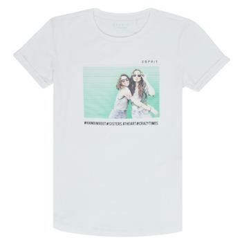 Abbigliamento Bambina T-shirt maniche corte Esprit ELISH Bianco