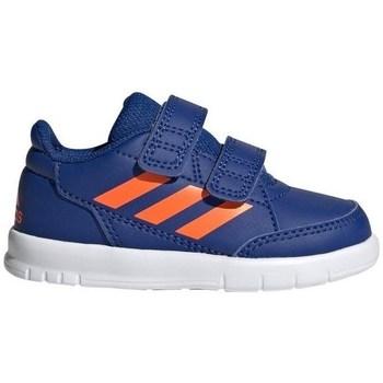 Scarpe Unisex bambino Sneakers basse adidas Originals Alta Sport CF I Bianco, Arancione, Blu marino