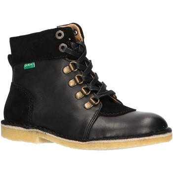 Scarpe Unisex bambino Stivaletti Kickers 736370-30 KICK HOOD Negro